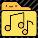 file and folder, mp, music, musics, sound icon