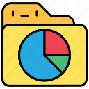 file, folder, graph, pie chart, statistics icon