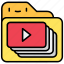 file and folder, play, video, video file, youtube icon