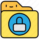file and folder, lock, privacy, private, secure, security icon