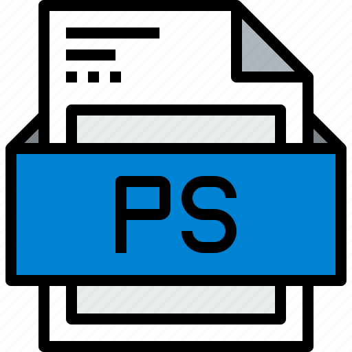 file, format, ps icon