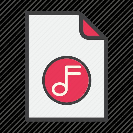 data, document, file, music, sound icon