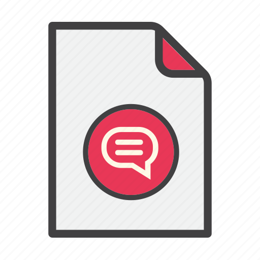 comment, data, document, file, review icon