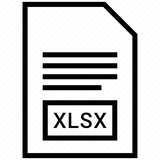 extention, file, type, xlsx icon