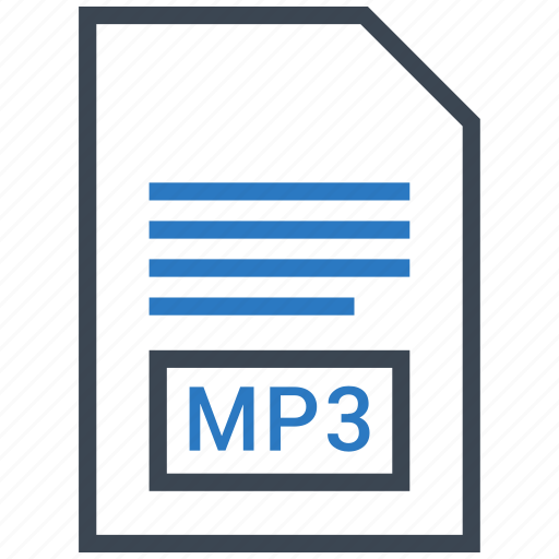 extention, file, mp3, type icon