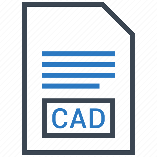 cad, extention, file, type icon