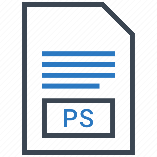 extention, file, ps, type icon