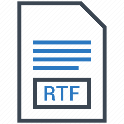 document, extension, file, rtf icon