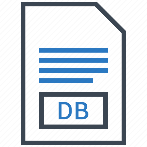 Db, document, extension, file icon - Download on Iconfinder