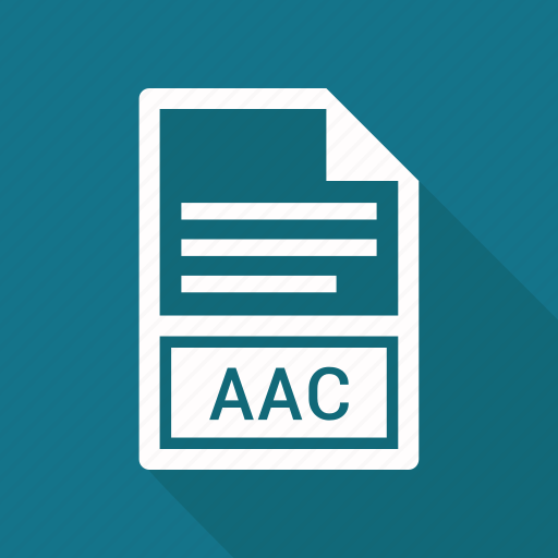 aac, extension, file, file format icon