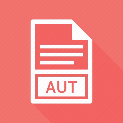 aut, document, extension, name icon