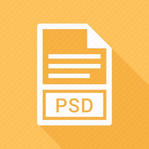 extension, file, file format, psd icon