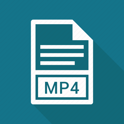 document, extension, file, mp4 icon