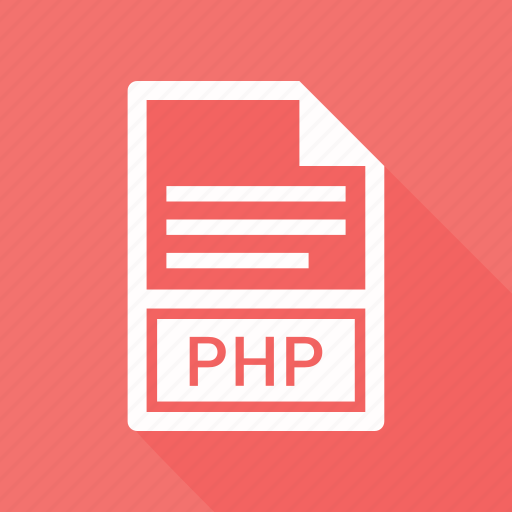 document, extension, file, php icon