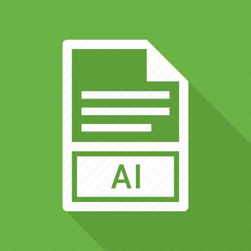 ai, document, extension, file icon