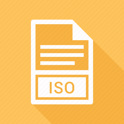 document, extension, file, iso icon