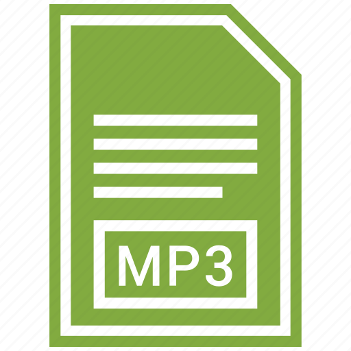 document, extension, file, file format, mp3 icon