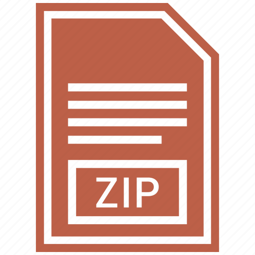 document, extension, file, file format, zip icon