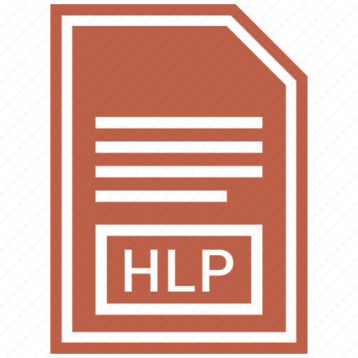 document, file, format, hlp icon
