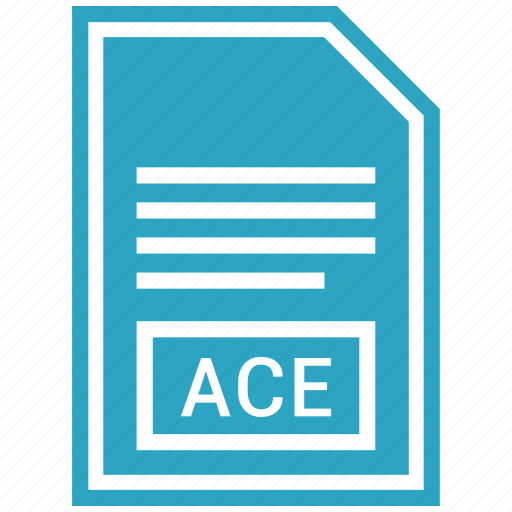 ace, document, file, format icon