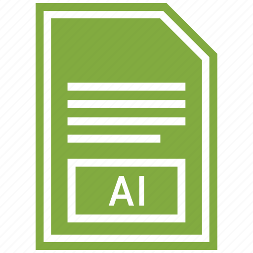 ai, document, extension, file format icon