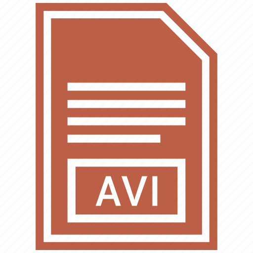 avi, document, extension, file format icon