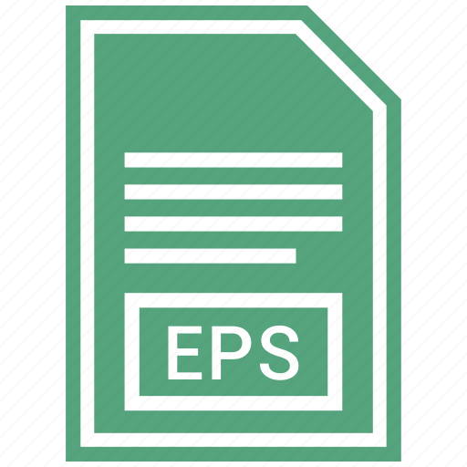 document, eps, extension, file format icon