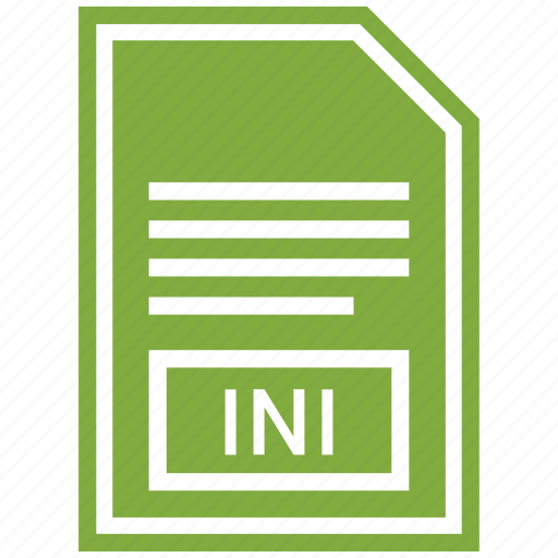 document, extension, file format, ini icon