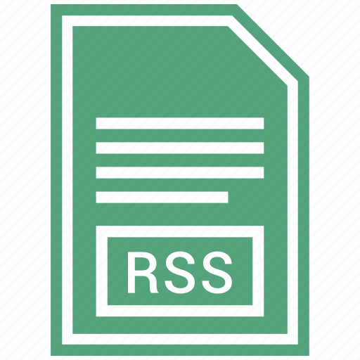 document, extension, file format, rss icon