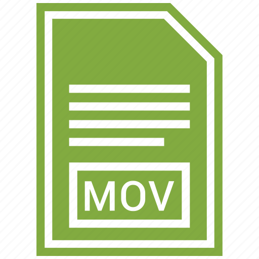 document, extension, file format, mov icon