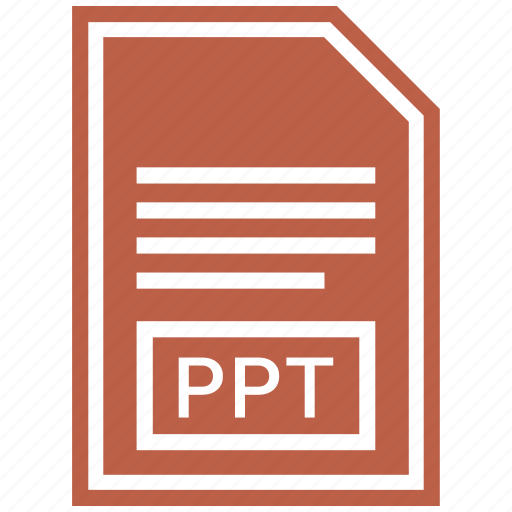 document, extension, file format, ppt icon
