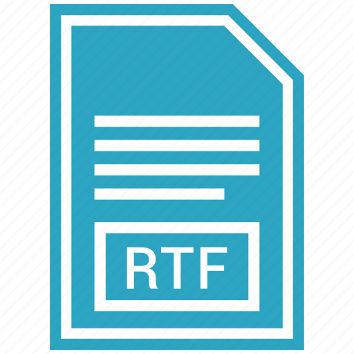 document, extension, file format, rtf icon