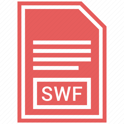 document, extension, file format, swf icon