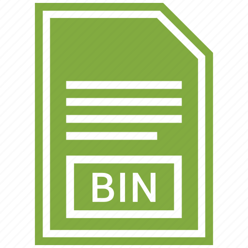 bin, document, extension, file format icon