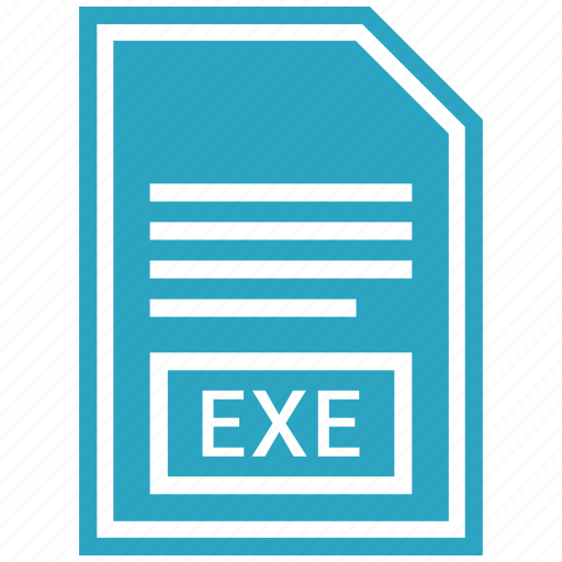 document, exe, extension, file format icon