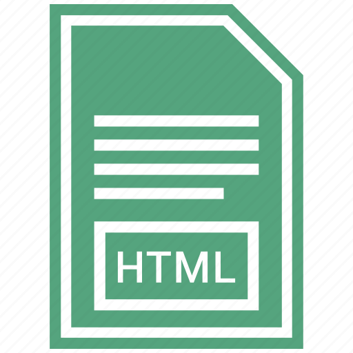 document, extension, file format, html icon