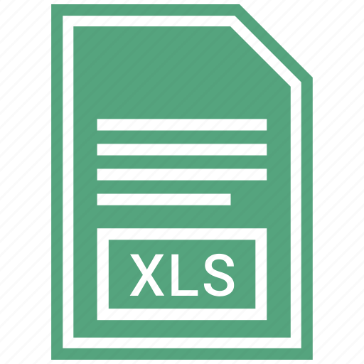 document, extension, file, file format, xls icon