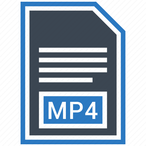 document, extension, file, format, mp4, type icon