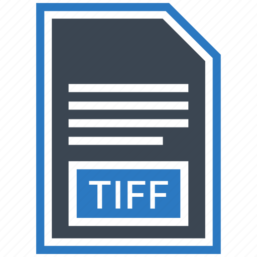 document, extension, file, format, tiff, type icon