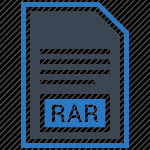 document, extension, file, format, rar, type icon