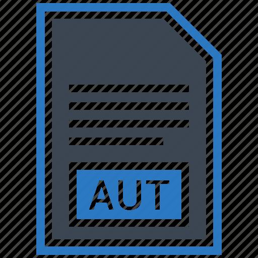 aut, document, extension, file, format, type icon
