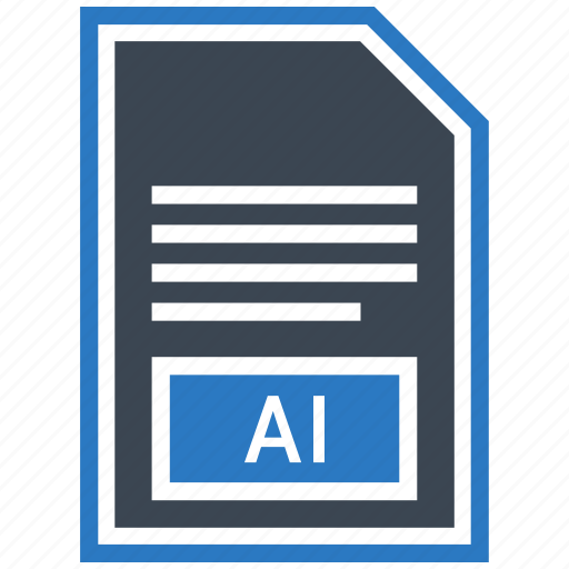 ai file, document, extension, file, format, type icon