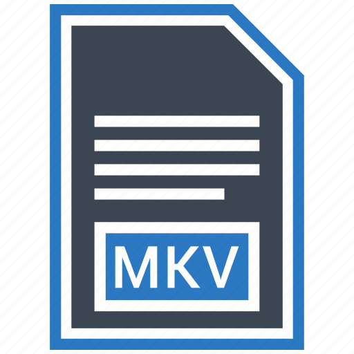 document, extension, file, format, mkv, type icon