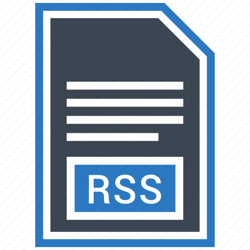 extention, file, rss, type icon