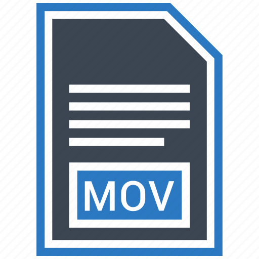 document, extension, file, format, mov, type icon
