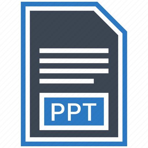 document, extension, file, format, ppt, type icon