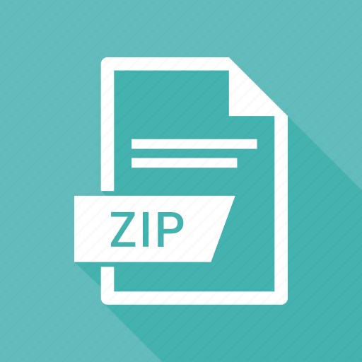 document, extension, name, zip icon