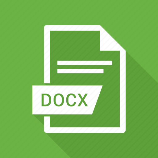 document, docx, extension, file icon