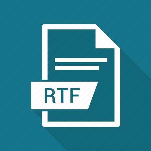 document, extension, file, rtf icon