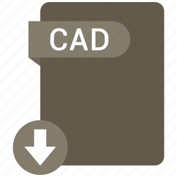 cad, extension, file, format, paper icon